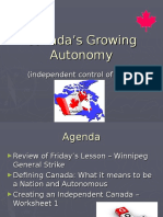 canadas growing autonomy