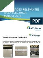 Actividades Relevantes Área Eléctrica - MARZO 2016
