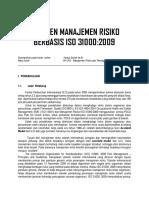 Manajemen Resiko ISO 3001 2009