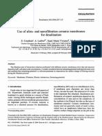 Use of Ultra and Nanofiltration Ceramic Membranes for Desalination 2004 Desalination