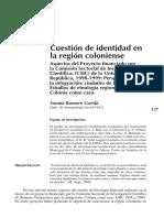Sonnia Romero Gorski Cuestión de identidad en la región coloniense