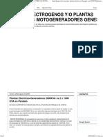 Grupos Electrogenos Y_o Plantas Electricas Motogeneradores Genesal_ Plantas Electricas-generadores 2000kva vs 2 x 1000 Kva en Paralelo