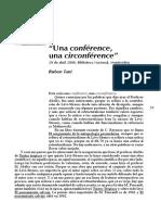 "Ruben Tani""Una conférence, una circonférence"""