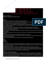 Aghet Genocide Tranlation