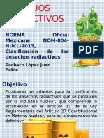 CLASIFICACIÓN DE LOS RESIDUOS RADIACTIVOS
