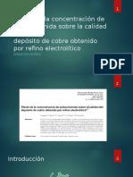 Efecto de La Concentración de Poliacrilamida Sobre La
