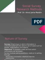 Social Survey Research Methods