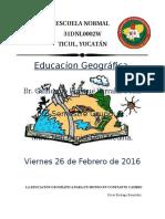 LA EDUCACIÓN GEOGRÁFICA PARA UN MUNDO EN CONSTANTE CAMBIO