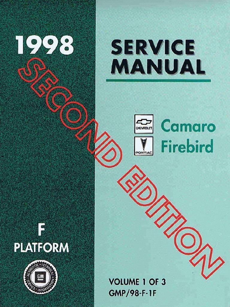 1998 chevrolet camaro pontiac firebird service manual volume 1 rh scribd com 89 Camaro 99 Camaro