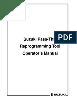 Programming ECU Suzuki | Installation (Computer Programs