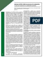 Minimización de emisiones de NOx y hollín en procesos de combustión
