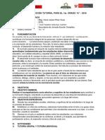 Plan de Atención Tutoríal 1a - 2016