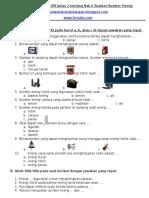 Latihan Ulangan IPA Kelas 2 Tentang Bab 6 Sumber-Sumber Energi