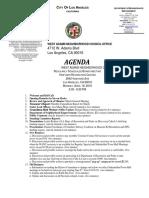 April 18th, 2016 WANC Meeting Agenda