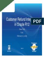Customer Refund Integration in Rel.12