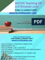 HCR 210 MASTER Teaching Effectively/hcr210master.com