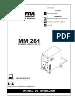 Especificaciones de Maquina de Soldar Infra Mm 261