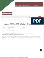 Huawei B315s-936 (Globe) Admin Access Blogmytuts