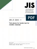 JIS Z 2201 Standard