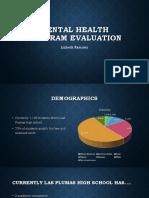 mental health program evaluation weebly