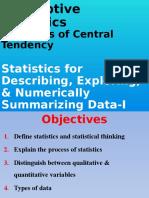 Descriptive Statisticssdfsfd
