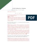 Math 581 Homework 1 Solutions