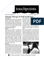 Massage Therapy for Pain Syndromes