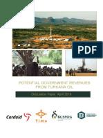 Revenues From Turkana Oil April 2016