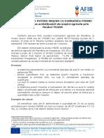 Clarificări Privind Corelarea Puterii Mașinii Cu Suprafața Fermei În Vederea Achiziționării de Mașini Agricole Prin PNDR