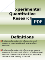 Nonexperimental Quantitatiwve Research