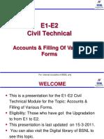 .Accounts & Various Forms Bsnl