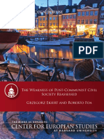 The Weakness of Post-Communist Civil Society Reassessed - Grzegorz Ekeirt and Roberto Foa