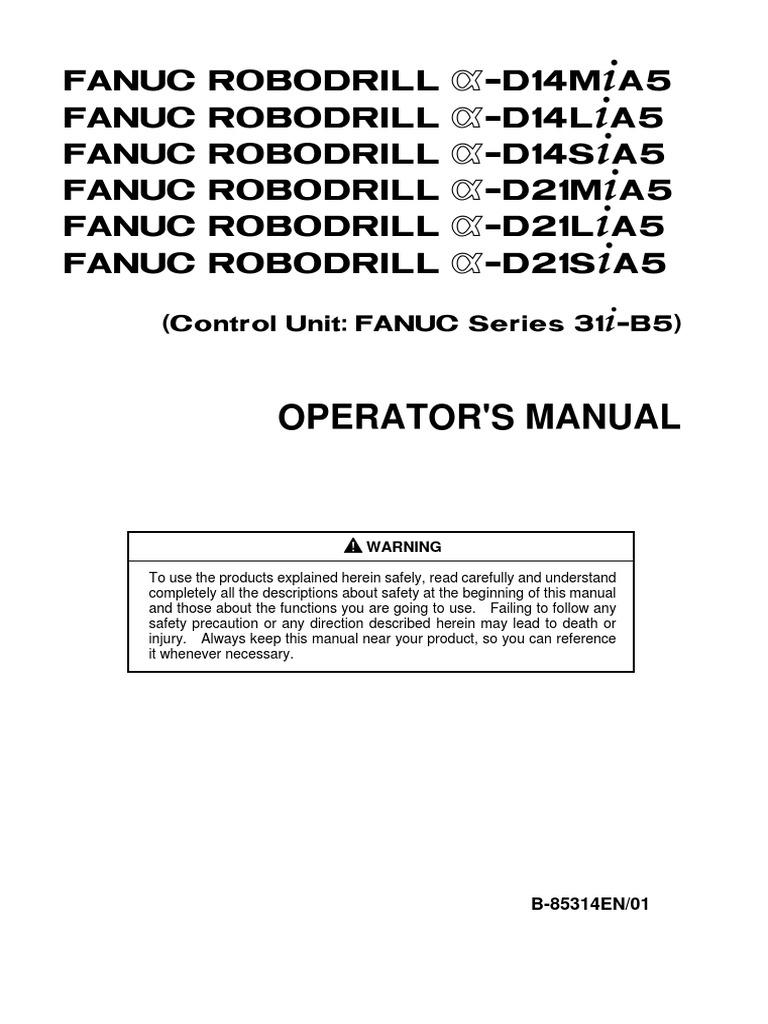 Fanuc 21tb operator manual