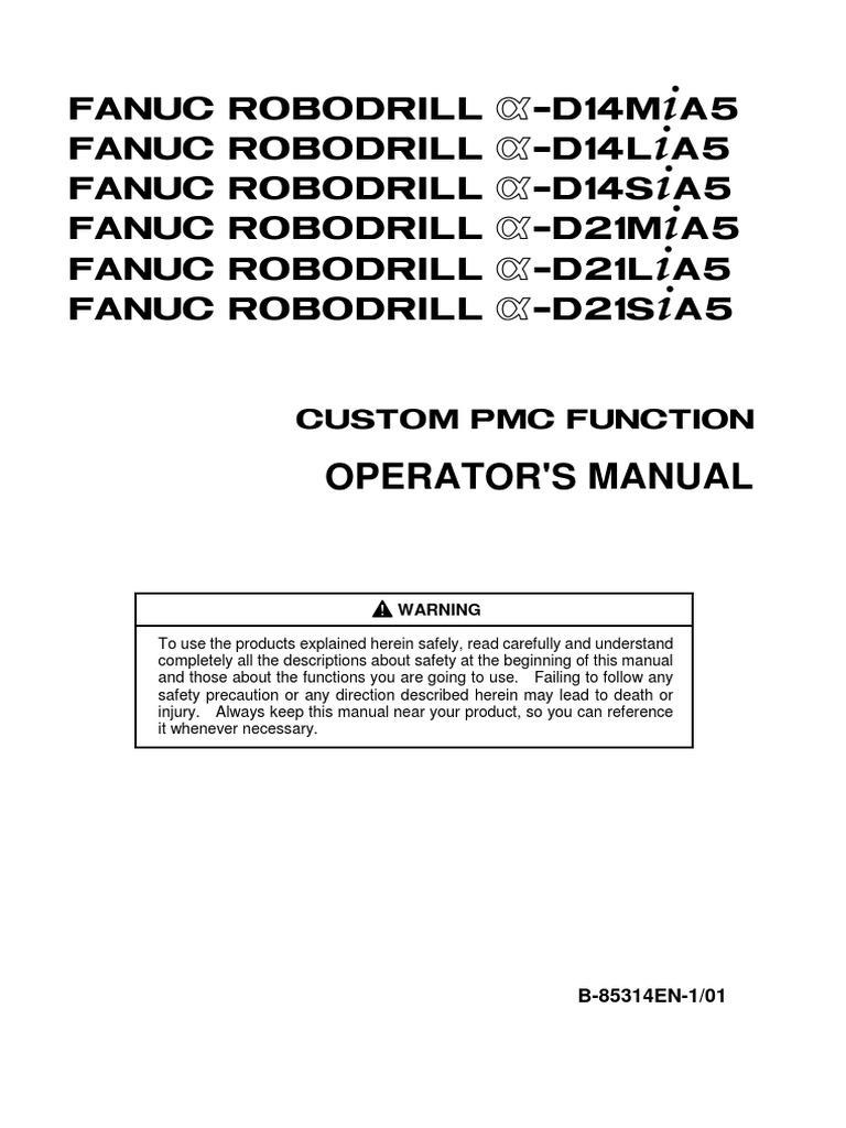 b 85314en 1 01 fanuc robodrill custom pmc functions direct current rh scribd com Fanuc Manuals PDF Fanuc Ladder Programming