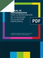 Manual Procedimientos Incorporacion de La Igualdad en La Gestion Empresarial