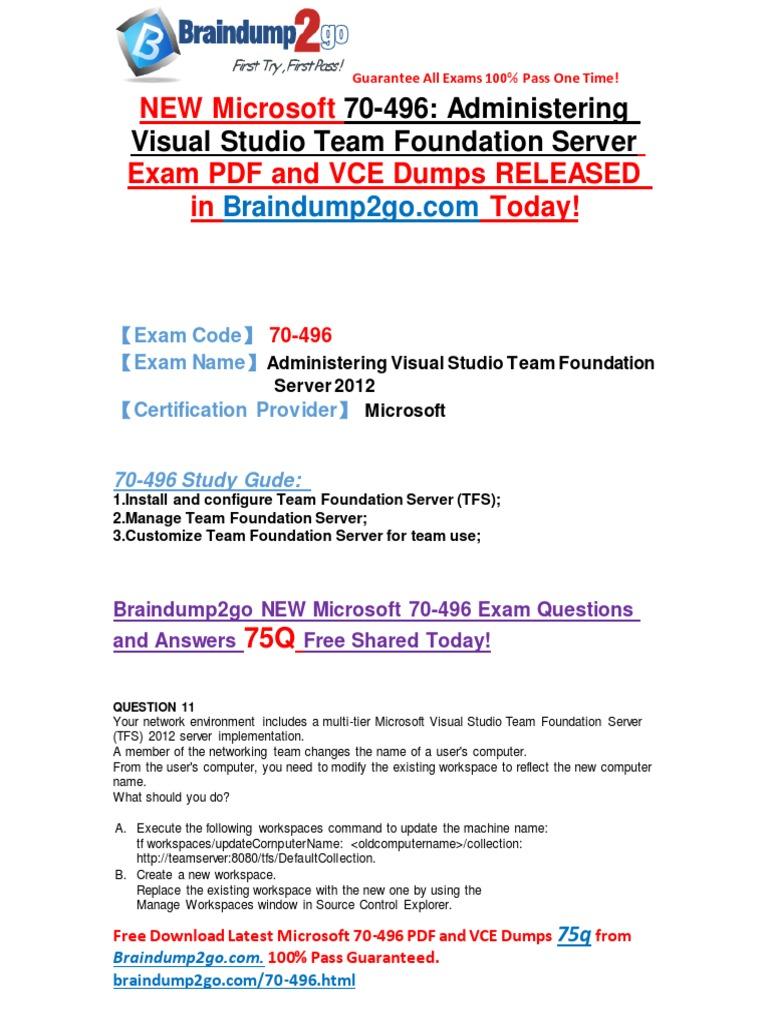 2016 Latest Microsoft 70 496 Exam Questions Pdf 89q Shared System