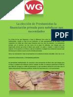 La elección de Prestamistas la financiación privada para satisfacer sus necesidades