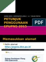 Petunjuk Penggunaan Admin Verifikator Level 1 & Turun Status