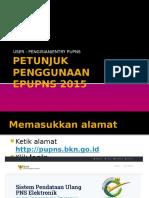 Petunjuk Penggunaan User Pengisian Pupns & Help Desk