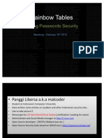 Rainbow Tables - Unikom Linux Week - Panggi Libersa