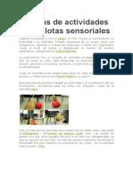 10 Ideas de Actividades Con Pelotas Sensoriales