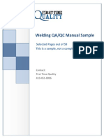 Welding Quality Manual Sample