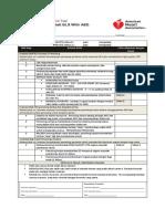 Skill BLS 2015 Checklist Indonesia