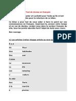 Test 5 Nivel Franceza