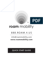 Roam Mobility Quick Start Guide