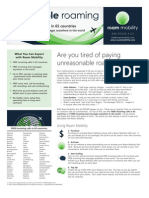 Roam Mobility Data Sheet