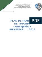 Plan de Trabajo Tutoría 2016