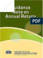 Guidance Note on Annual Return by ICSI