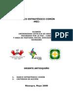 MARCO ESTRATÉGICO COMÚN - Alianza  Programa por la Paz - Corporación Vida, Justicia y Paz - Universidad Católica de Oriente