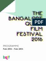 Bangalore Queer Film Festival Brochure